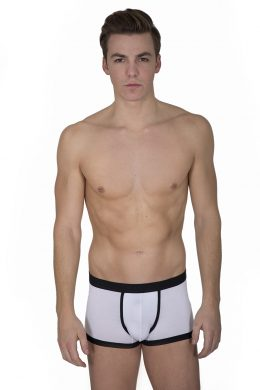 Bamboo Briefs Various Colours MBK 3019 01 02 Royal purple with black trim White with black trim LUK - Copy