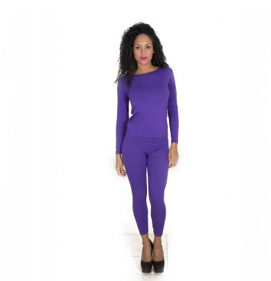 Thermal Bamboo Base Layer Sets PURPLE VIOLET - Copy