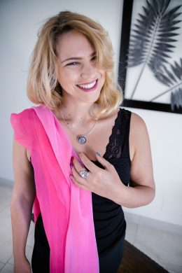 Pure Crepe Chiffon London Pink Collection www.silkyboo.com,