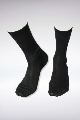 Luxurious Long Black Silk Socks 40-42=7UK-9UK www.silkyboo.com