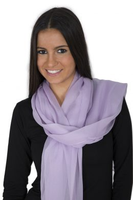 Luxury Pure Silk Crepe Chiffon Scarves Sweet pea Collection