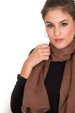 Pure Luxury Silk Scarves Collection Mocha WSN-3039-02 www.silkyboo.com .