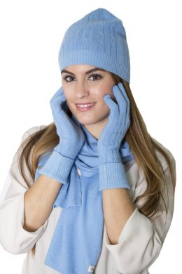 CBH-6003 Pure Cashmere Plain Knitted Scarves - Unisex www.silkyboo.com