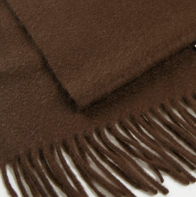 MCS-5020-70 Luxury Pure Cashmere Scarves for Men Bitter Chocolate www.silkyboo.com