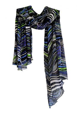 Beautiful Pleated Scarf WNS-1002 www.silkyboo.com