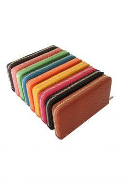 WLW-3043 Leather zip purse various colours -