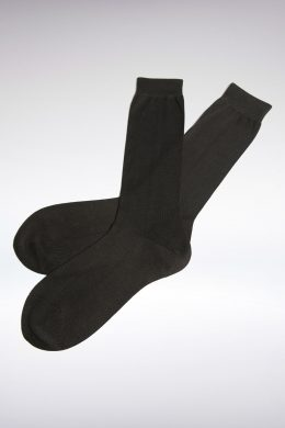 Luxurious Plain Black Silk Socks www.silkyboo.com
