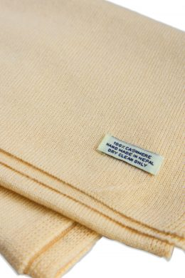 Pure Cashmere Plain Knitted Scarves - Unisex Light Sand CPKS-6003-94 www.silkyboo.com..