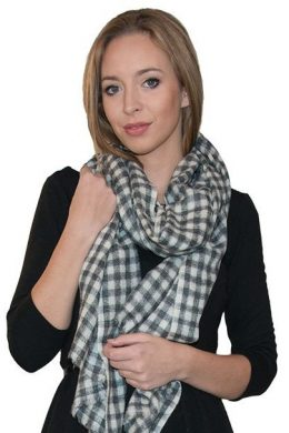 Pure Cashmere Scarf Chequer Pattern WCS-5019-192 www.silkyboo.com .